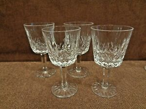 WATERFORD LISMORE 4 PORT WINE GOBLETS 4 1/4 INCHES TALL