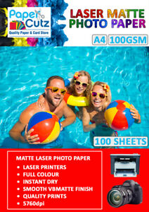 A4 Laser Photo Paper Double Sided, Matte or Gloss Coated for Printing Images