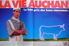 PUBLICITÉ LA VIE AUCHAN LE BON PRIX DES BONS MORCEAUX - LES BOUCHERS