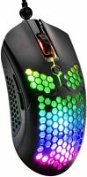 Lightweight Honeycomb Shell Gaming Mouse RGB LED Backlit 7 Buttons for Xbox PS4