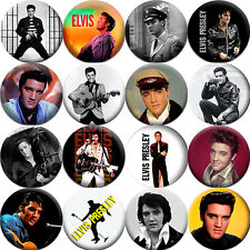 Elvis Presley - Badges Buttons Pins (1.5 inch - 38 mm) - 16 pcs