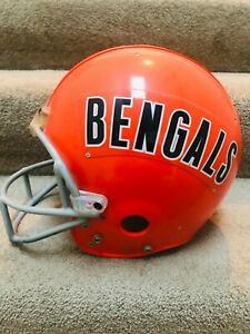 Cincinnati Bengals NFL Football helmet game worn used 1979 or before model
