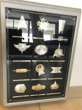 Silver & Gold Official Star Trek Insignia Badges Set Franklin Mint
