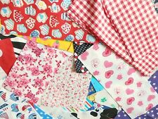 Patchwork Bundle Fabric Material Scraps Joblot Mixed Craft Offcuts 30 Pieces