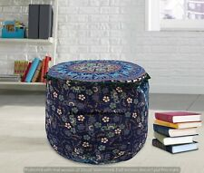 Round Ottomans Seating Cushion Poufs Boho Furniture  Decorative Ottoman Cover