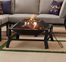 """30"""" Square Wood Burning Fire Pit with Mesh Screen"""