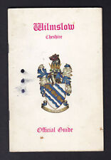 WILMSLOW Cheshire Wilmslow UDC Official Guide 1970s inc Handforth Styal RARE