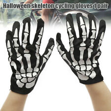 Cycling Gloves Halloween Horror Skull Claw Bone Skeleton Goth Racing Full Gloves