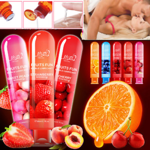 Fruity Edible Sex Lube Sex Lubricant For Couple Gay Oral Vagina Anal Sex Gel New
