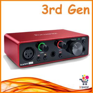 Scheda audio esterna usb pc FOCUSRITE Scarlett solo 3rd interfaccia professional
