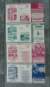 4 Vtg 1950/51 Theater Movie Promo Mailers-Military +More-Thomson GA-Cagney-Wayne