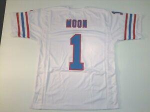 UNSIGNED CUSTOM Sewn Stitched Warren Moon White Jersey - M, L, XL, 2XL, 3XL