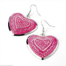 Heart Mixed Metals Costume Earrings without Stone