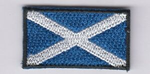 Scotland Touch Fastener Patch Sew-On, Iron-On Scotland Great Britain