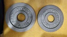 "Two 5lb CAP Olympic 2"" weight Plates"
