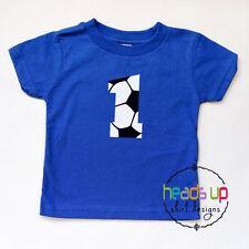 1 Soccer Shirt Baby Boy or Girl 1st Birthday Bodysuit One Sports tshirt Toddler