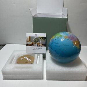 """New NIB Political Map MOVA Blue Globe 6"""" 6 Inch Solar Power MG-6-BOE"""