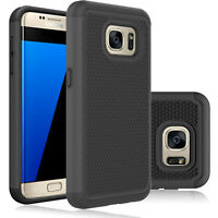 For Samsung Galaxy S7 edge Case Shockproof TPU Dual Layer Armor Protective Cover