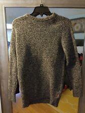 Men's Superdry Black And White Knit Sweater, Medium