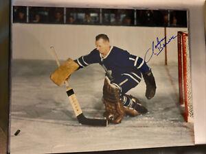 Johnny Bower Toronto Maple Leafs Signed Auto 8x10 Photo