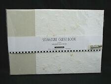 Rag & Bone Bindery Handbound Signature GUEST BOOK Tan White Floral 360 Names