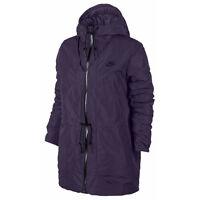 Nike Womens NSW Down Fill Hoodie Parka Jacket Coat Purple New