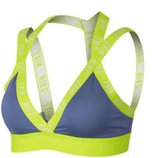 Nike Indy Logo Sports Bra Womens Ladies Purple Volt UK Size 8 XS *REF149