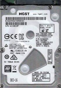HGST HCC545050A7E630 P/N: 0J42255 MLC: DA7285 500GB