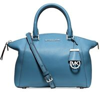 Michael Kors Tasche/Bag Riley SM Satchel Bowling-Bag Leather Sky NEU!