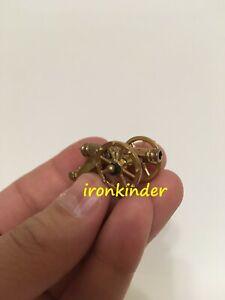 Gun as in kinder surprise bronze metall collectible miniature figure 40mm