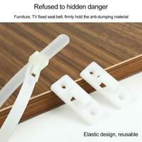 5pcsFurniture Anchors Baby Proofing Straps Anti Tip Furniture Wall Anchors