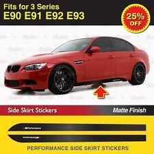 Für BMW E90 E91 E92 3er M Performance Seitenschweller Schweller Aufkleber MATT