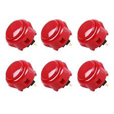 6x Arcade Sanwa OBSF-30 Buttons Mad Catz SF4 Tournament Joystick Compatible Red