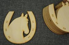 10 x Hufeisen Holz Hufeisen Halbkreis  Hänge Form Verschönerung Glück Pferd NX8