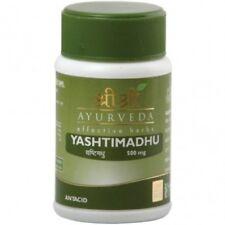 10X Sri Sri Ayurveda Yashtimadhu Tablet For Peptic Ulcers And Allergy 60 Tablets