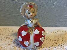 Vintage Lefton Valentine Girl Bell figurine