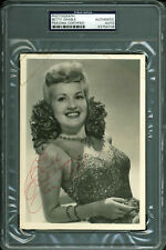 "Betty Grable ""To Ruth - Best Always"" Authentic Signed 5x7 Photo PSA/DNA Slabbed"