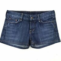 Citizens of Humanity Women's Medium Wash Low Rise Stretch Denim Jean Shorts 28