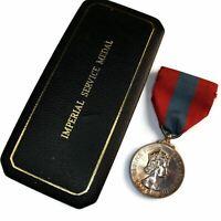 Original Elizabeth II Imperial Service Medal & Case ARTHUR WENTWORTH PIKE - HE09