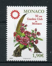 Monaco 2018 FDC Garden Club 50th Anniv 1v Set Cover Flowers Stamps