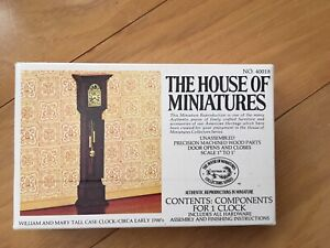 Miniature William and Mary Tall Case Clock Kit #40018 1:12 Scale New