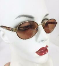 Florence Vogue Italy Sunglasses Tortoise VO 3133 Vintage 1990s Black Patent Case