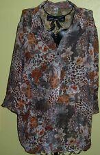 83 ) Tolles Nekische Bunte Damen Bluse Gr. 50 die Firma ist nicht angegeben