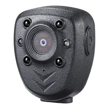 HD 1080P Police Body Lapel Worn Video Camera Night Visible LED Light Cam Record