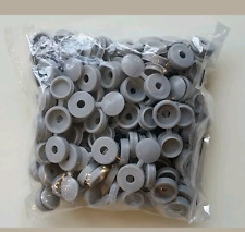 5 x GREY HINGED PLASTIC SCREW COVER CAPS FIT SIZE 6-8 GAUGE SCREWS