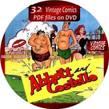 ABBOTT & COSTELLO COMIC BOOKS - 34 VINTAGE ISSUES - PDF FORMAT ON DVD - COMEDY