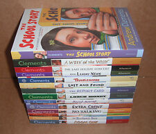 Lot of 14 School Stories Books by Andrew Clements Paperback NEW