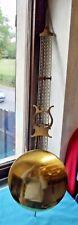 Ancien Grand Balancier de pendule Comtoise ornement harpe instrument de musique