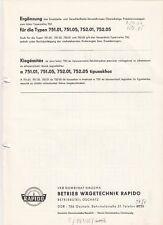 OSCHATZ, Prospekt 1972, VEB Wägetechnik Rapido NAGEMA Medizin Labor owa labor