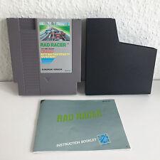 Rad Racer | TOP Zustand + Anleitung, Schuber | Nintendo NES Rennspiel Klassiker